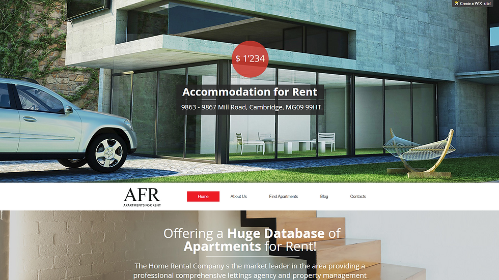 AFR Apartments | APPME - 5 PAGE SITE + BLOG