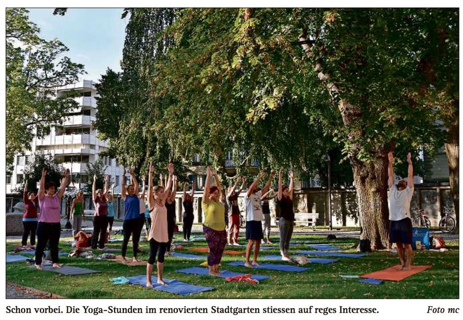 Yogakurse im Stadgarten Chur