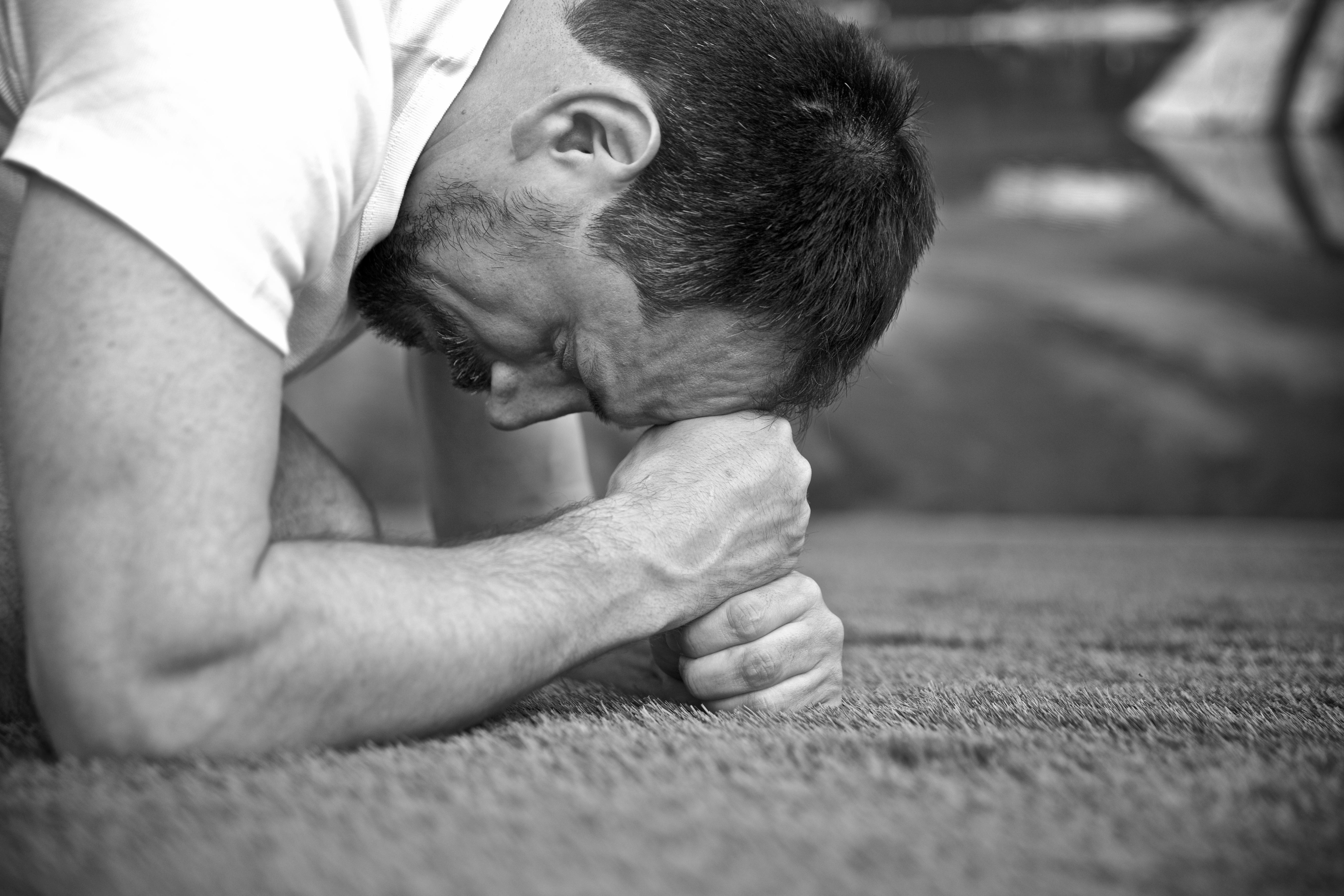 Nacken lösen, tief durchatmen
