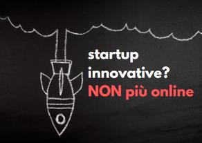 Startup innovative? NON più online!