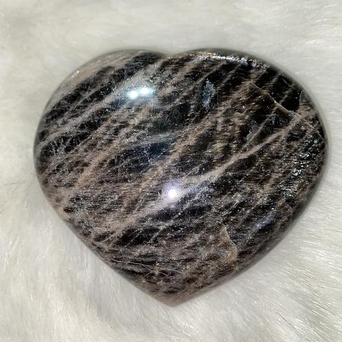 Black Moonstone Heart