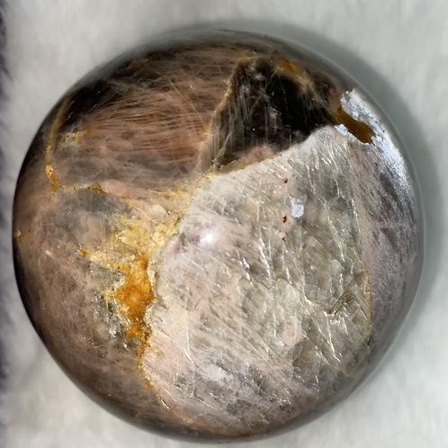 XL Black Moonstone Sphere