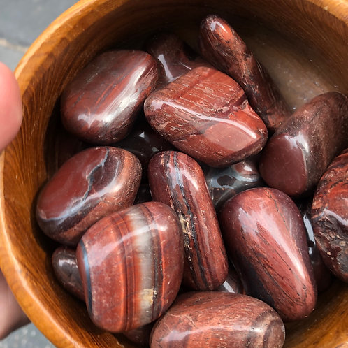 Red Tigers Eye (Intuitively Picked Large Tumble)