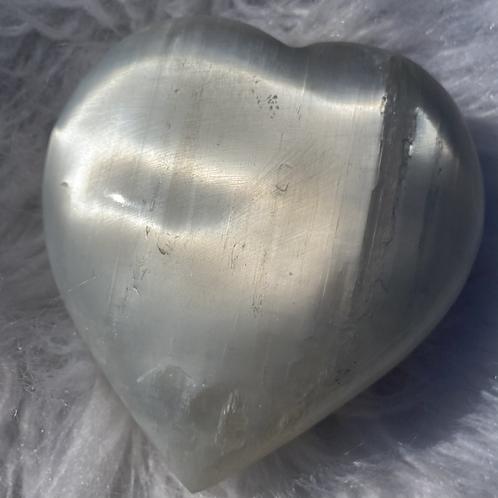 Selenite Heart (XL)