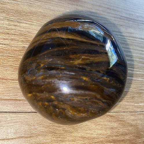 Tigers Eye Palm Stone