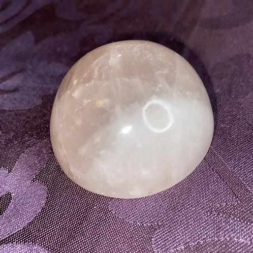 Rose Quartz Sphere Half