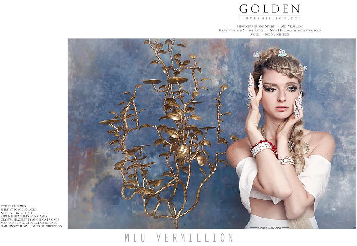 Miu Vermillion for OPALUS Magazine