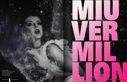Miu Vermillion for Emboss Magazine
