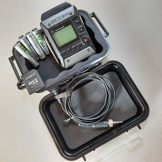 Kit grabadora Zoom F1 con lavalier