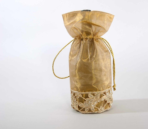 Gold Scroll Bottle Bag