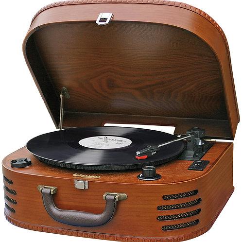 Ретро проигрыватель пластинок c  FM-радио TTR630W