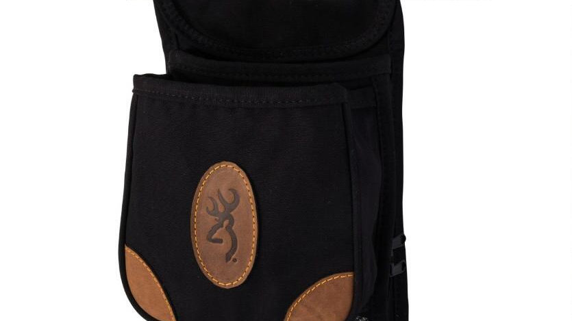 Black Leather Shooting Pouch