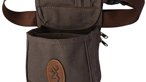 Gray Leather Shooting Pouch