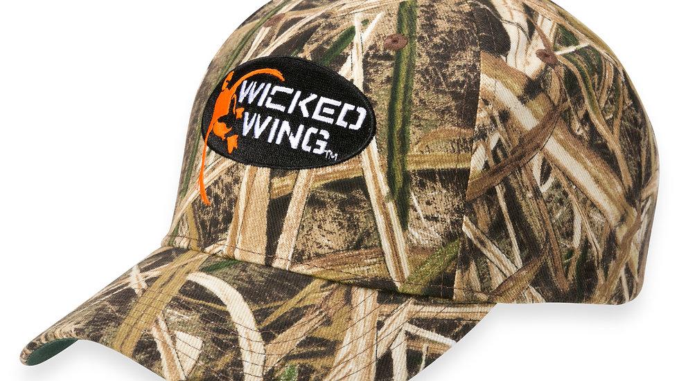 Wicked Wing Mossy Oak Hat ( Adjustable )