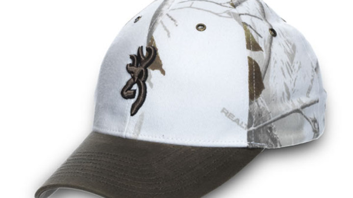 White Browning Camo Hat ( Adjustable )