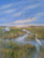 16x20 acrylicmorning in the low country.