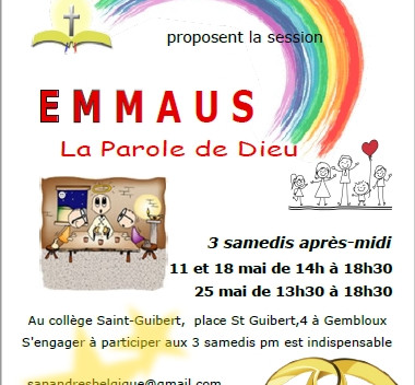"""Annoncer la session """"Emmaüs"""" aux groupes de prière de votre diocèse"""