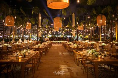 Decoracion de matrimonio en el centro de convenciones de Cartagena