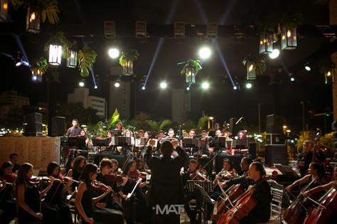 Sinfonica de Cartagena, en una boda en la plaza de banderas del Centro de Convenciones de Cartagena