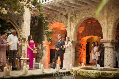 Ceremonia en Casa Pombo en Cartagena