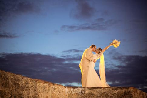 Fotos de recien casados en la muralla de Cartagena