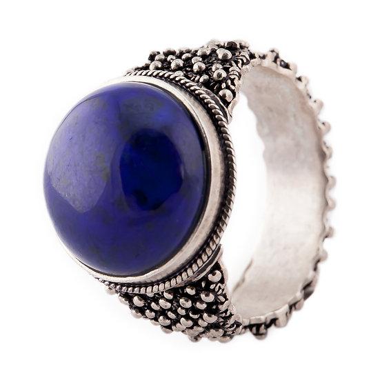anello  filigrana sarda e lapislazzuli