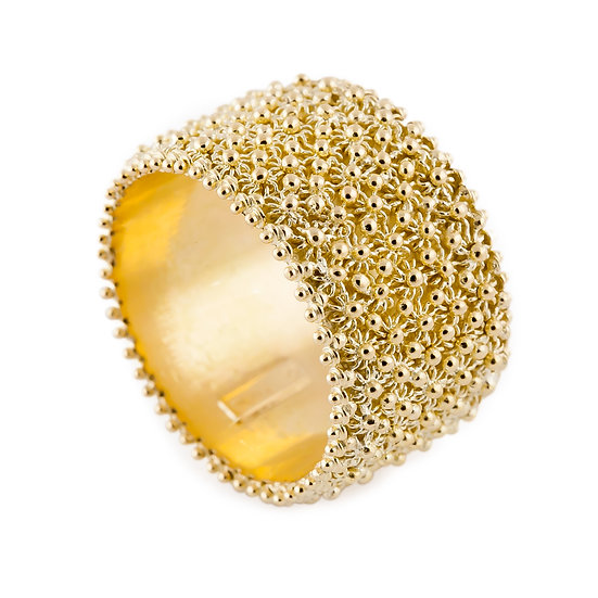 fede sarda in oro a fascia