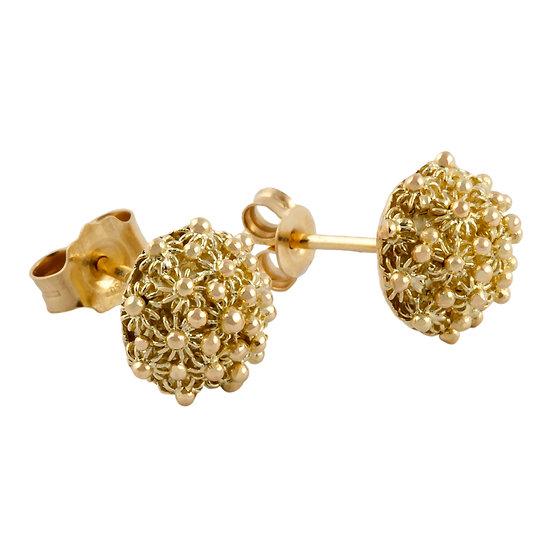 orecchini Semi Sfera Filigrana d'oro