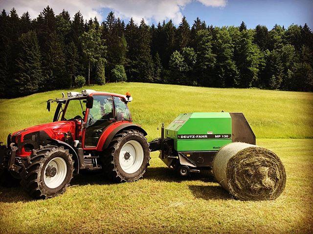 endlich haben wir auch mit der Ernte begonnen #ernte#lindner #heu #bio #salzburgland #fuschlseeregio