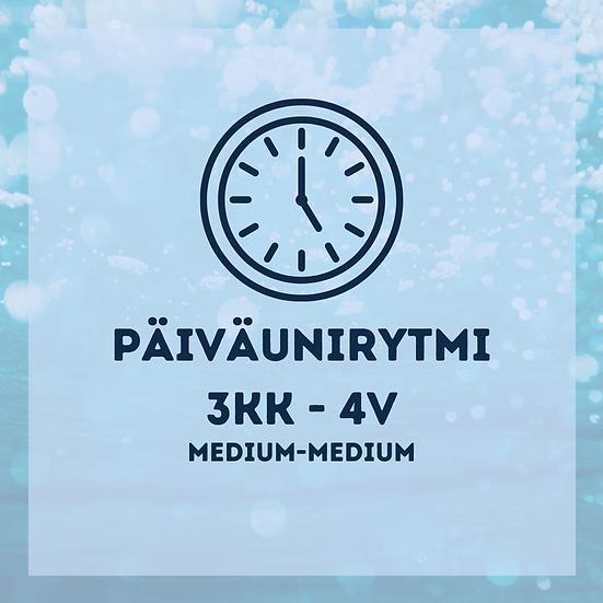 Päiväunirytmit 3kk-4v medium-medium