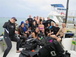 Scuba Holiday group on boat (Medium)