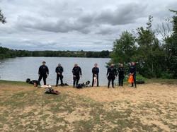 rescue diver group in kit (Medium)