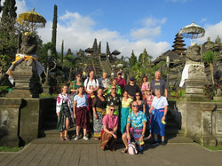 group at temple