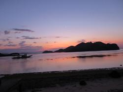sunset and boat (Medium)