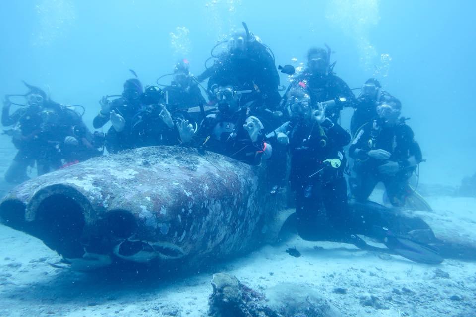 group underwater