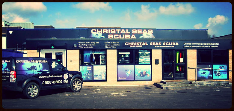 PADI Scuba Diving Norwich Norfolk Christal Seas Scuba