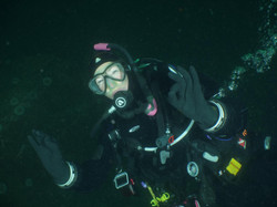 polly underwater