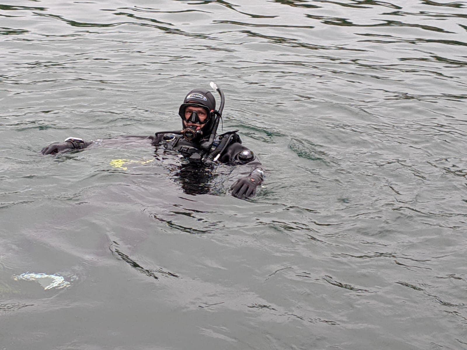 Gary in water