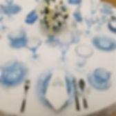 Cambridge Caprice Table Setting in Blue