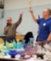 A presentation on iridescent stretch glass by the Stretch Glass Society