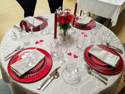 Imperial Glass Company Candlewick table setting