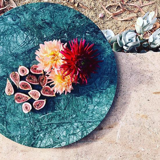Green Marble Platter