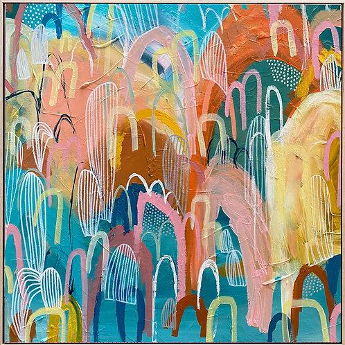 Sunrise Hills - 50cm x 50cm - Framed Print