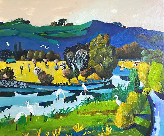 "Susan Trudinger ""The Heron Family"""