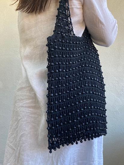 Black Bead Weave Bag