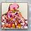 Thumbnail: Pink Boulder on a Hill | 103cm x 103cm | Original