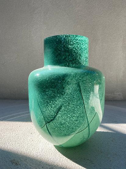 Green Blown Glass Vase