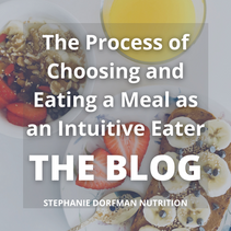 The Process of Choosing and Eating a Meal as an Intuitive Eater