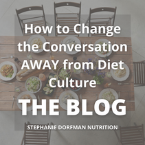 How to Change the Conversation AWAY from Diet Culture