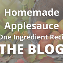 Homemade Applesauce - Super Simple One Ingredient Recipe